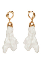 Load image into Gallery viewer, Porcelain Earrings - Gold