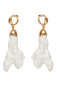 Porcelain Earrings - Gold