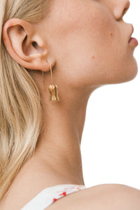 Bluebell Flower Earrings - Gold