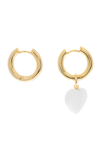 Baroque Pearl Single Charm Hoops