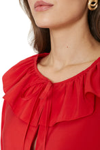 Load image into Gallery viewer, Cropped Ruffle Blouse
