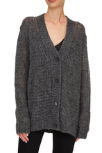 Load image into Gallery viewer, Sheer Knit Cardigan - Grey