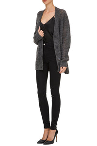 Sheer Knit Cardigan - Grey