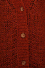 Load image into Gallery viewer, Sheer Knit Cardigan - Red