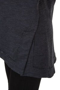 Cowl Neck Sweater - Charcoal