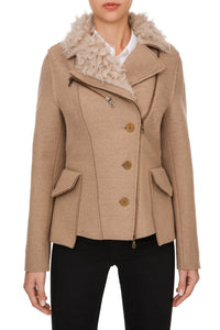 Shearling Trim Jacket