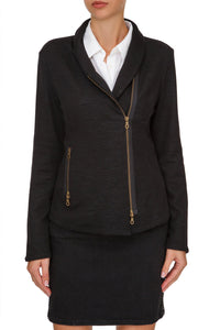 Side Zip Knit Jacket