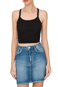 Racer Back Cropped Tank