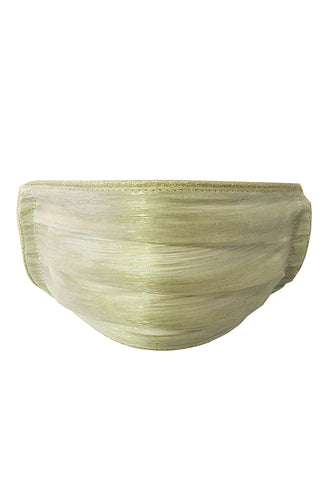 Pleated Silk Face Mask - Gold