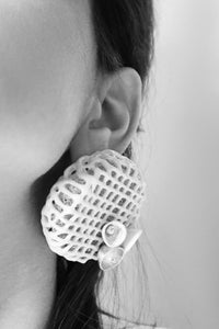 Concrete Cage Earring