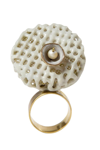 Pearl Resin Cage Ring