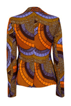 Load image into Gallery viewer, Vivienne Fitted Blazer - Orange/Blue