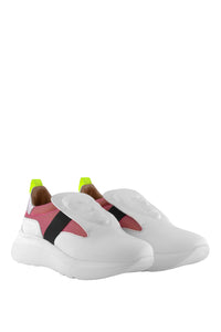 Marcus Art Sneakers - White and Pink