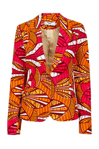 Vivienne Fitted Blazer - Orange