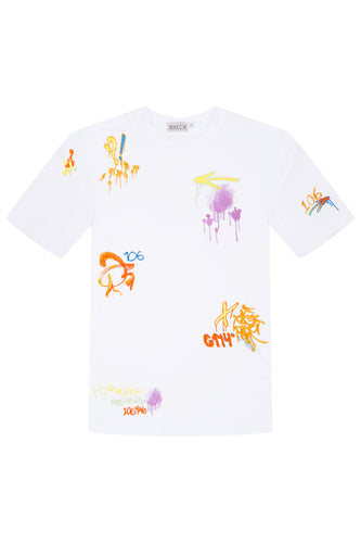Embroidered Graffiti Tee
