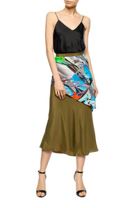 Streetscape Layered Skirt  - Olive