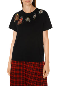 Fringe Patch Tee - Black