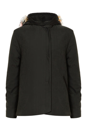 Padded Jacket with Embellished Hood