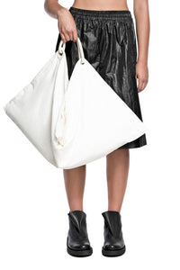 Oversized Pouchy Tote - White