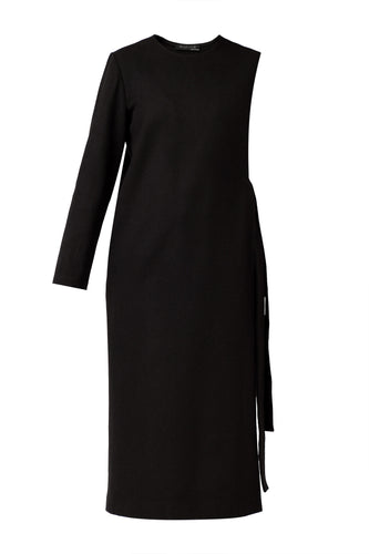 Mono Sleeve Monochromatic Dress