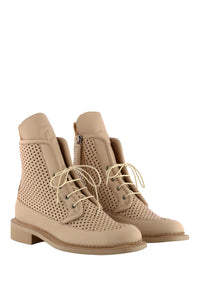 Zelos Art Boots - Beige Perforated