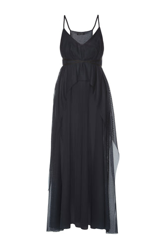 Empire Tiered Dress - Black