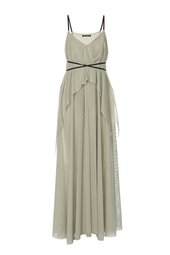 Empire Tiered Dress - Grey