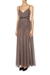 Empire Slip Dress - Taupe
