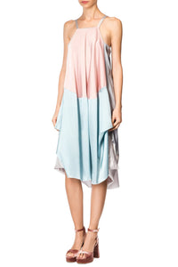 Draped Slip Dress - Pink