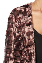 Load image into Gallery viewer, Long Quilted Faux Fur Coat