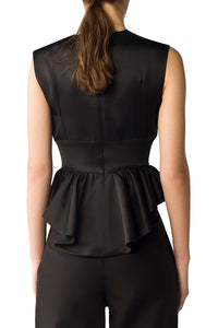 Nadya Silk Peplum Top