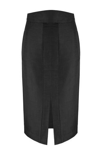 Vika Silk Pencil Skirt