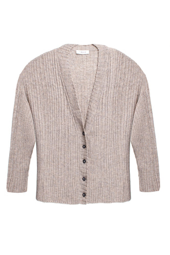 Oversized Ribbed Knit Cardigan