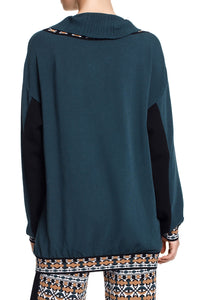 Zip Front Collar Sweater