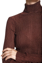 Load image into Gallery viewer, Ribbed Knit Turtleneck - Chocolate