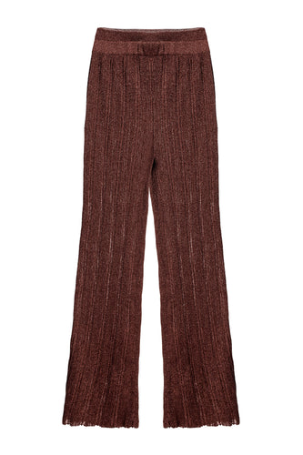 Ribbed Knit Pants - Chocolate