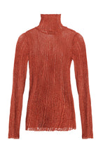 Load image into Gallery viewer, Ribbed Knit Turtleneck - Pumpkin
