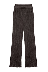 Ribbed Knit Pants - Charcoal