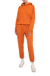 Hoody and Joggers - Orange