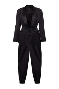 Tuxedo Wool Suit with Joggers