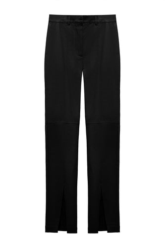 Slit Front Pants - Black