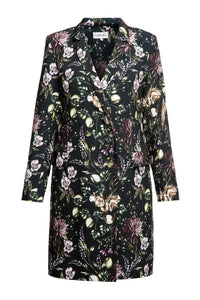 Flower Roasting Coat Dress