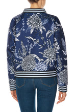 Load image into Gallery viewer, Chrysanthemum Bomber Jacket - Blue