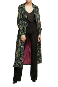 Juicy Cranberries Trench Coat