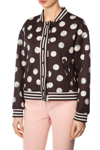 White Moon Bomber Jacket