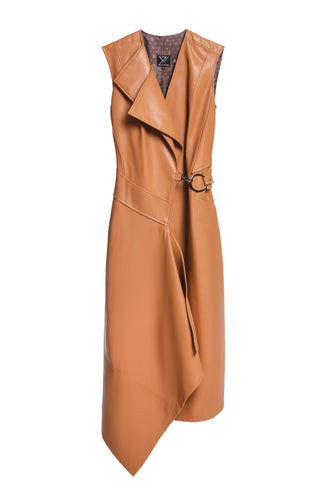Eco Leather Wrap Dress