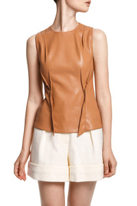 Tailored Eco Leather Top