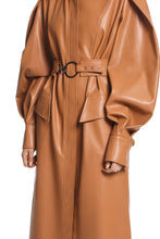 Load image into Gallery viewer, Cape Sleeve Eco Leather Coat