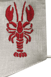 Embroidered Lobster Mask