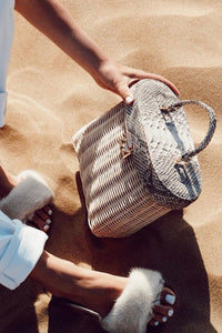 Python Top Handle Basket Bag